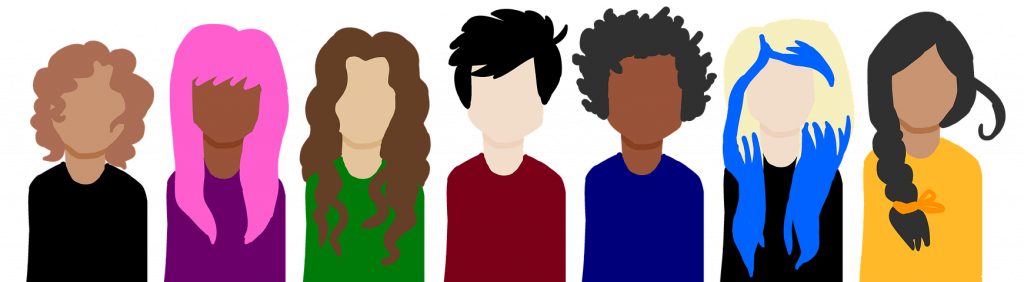 Illustration of 7 individual people